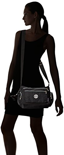 Crossbody With Nylon Tiny Pockets Messenger Lightweight Waterproof Black Chou Shoulder Bag Zipper Lots SfwpxZOYqp