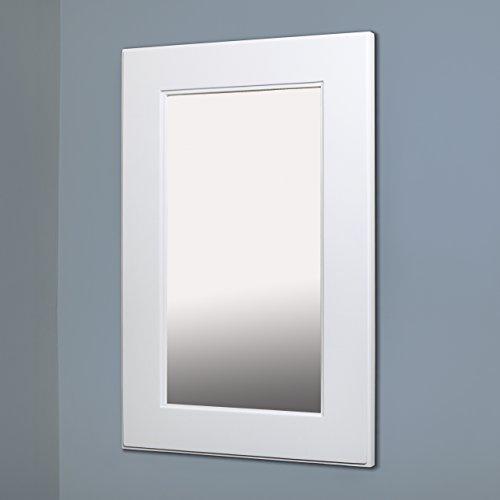 "Fox Hollow Furnishings 14"" x 24"" Mirrored Medicine Cabinet,Shaker White"