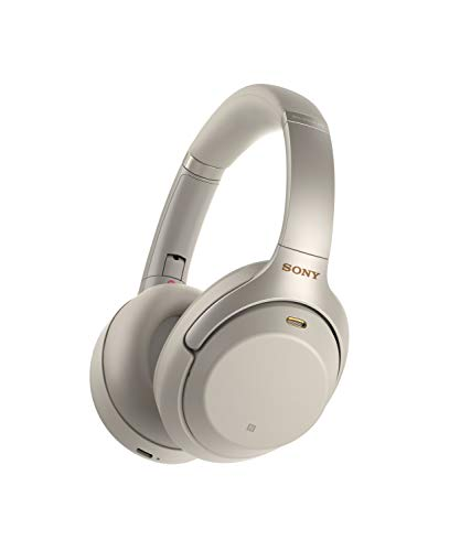 Headphones Headphones Silver (Sony WH1000XM3 Bluetooth Wireless Noise Canceling Headphones Silver WH-1000XM3/S (Renewed))