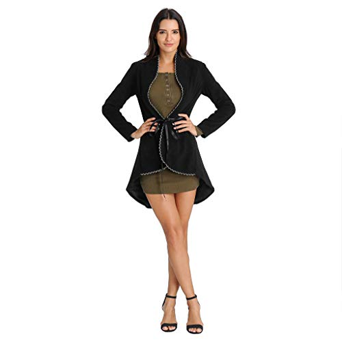 (Sunyastor Steampunk Coat for Women, Vintage Punk Gothic Corset Tailcoat Halloween Coat Victorian Retro Long Jacket Tuxedo)