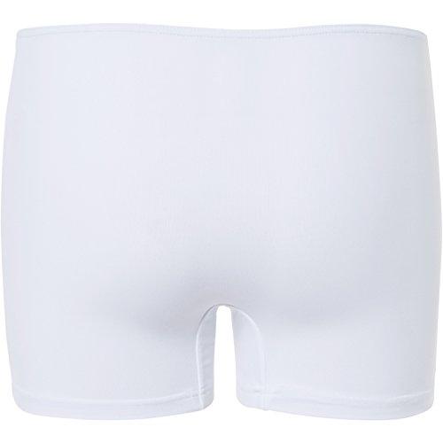 Sportkind Mädchen & Damen Tennis / Volleyball / Sport Shorts, weiss, Gr. 152