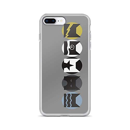 iPhone 7 Plus/iPhone 8 Plus Case Clear Anti-Scratch Warriors Clans V1, Warriors Cover Phone Cases for iPhone 7 Plus iPhone 8 Plus -