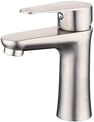 Honana 蛇口, クローク洗面シンクミキサータップクローム現代浴室の蛇口洗面台小ウエスト洗面ホットとコールドつや消し洗面台 - 小型ウエスト キッチン蛇口 混合水栓