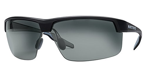 Native Eyewear Unisex Hardtop Ultra XP Matte Black/Gray Sunglasses -