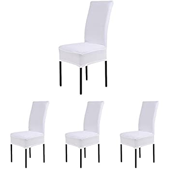CosyVie Super Fit Universal Stretch Dining Chair Covers Removable Washable Slipcovers For Room Chairs