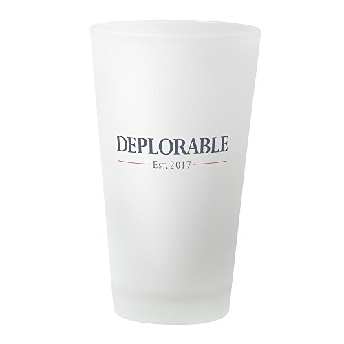 CafePress Deplorable Est 2017 Pint Glass, 16 oz. Drinking -