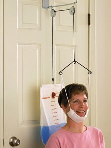 Seated C-TraxTM Over-door Cervical Traction with Standard Halter