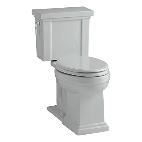 KOHLER K-3950-95 Tresham Comfort Height Two-Piece Elongated 1.28 GPF Toilet with AquaPiston Flush Technology and Left-Hand Trip Lever