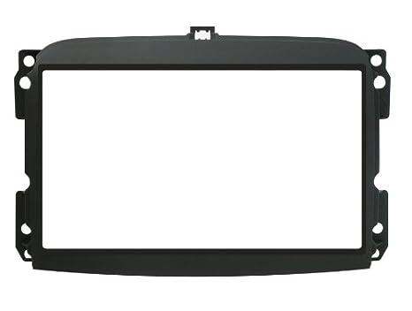 Phonocar 3/647 - Marco embellecedor para radio de coche Fiat 500L (norma 2 DIN), color negro: Amazon.es: Electrónica