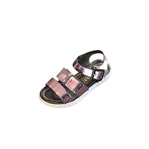 IGEMY Kleinkind Kinder Kinder Prinzessin einzelne Schuhe Sommer Mädchen  Sandalen Rosa