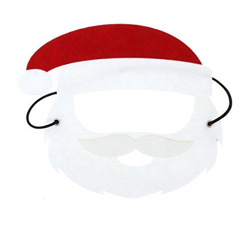 LUOEM Christmas Costume Mask Novelty Creative Santa Men Eye Face Mask for Kids Adults Cosplay Christmas Cosplay -