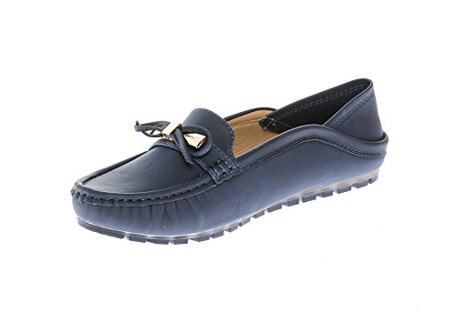 Flats Mocassins KIKI Slip Shoes Navy Loafers on CALICO Women's Comfort q0wdT1