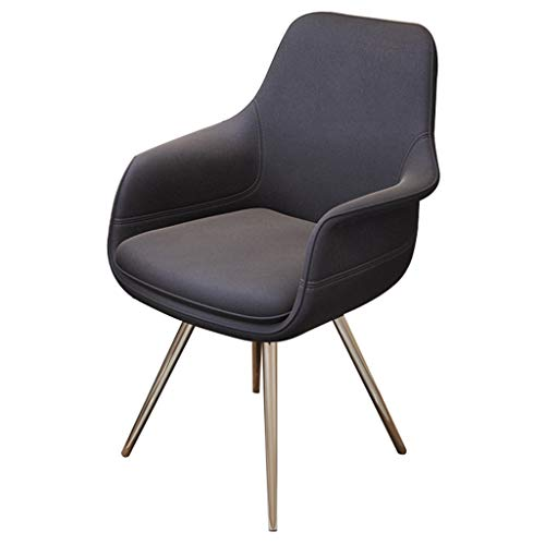 Ergonomic Desk Chair Rotating Ergonomic Office Chair Desk Chair Upholstered Armchair Computer Desk Chair Study Chair Lounge Coffee Chair (Color : Gray) -