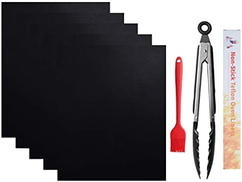 MYA 40x50cm 5 Non Stick BBQ Grill Mat Reusable BBQ Matte für Deck Teflon Backmatten für Grill