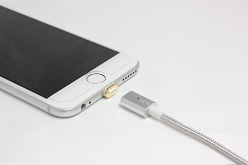 HKW Magnetic Lightning Charging Cable 4Ft/1.2m For iPhone (Silver) - Genuine Product