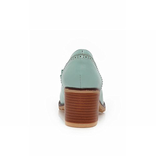 Mocassini Donna Latasa Tacco Medio Con Tacco Medio, Scarpe Blu