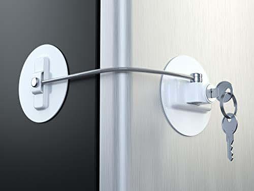 MUIN Refrigerator Door Lock with2 Keys - White