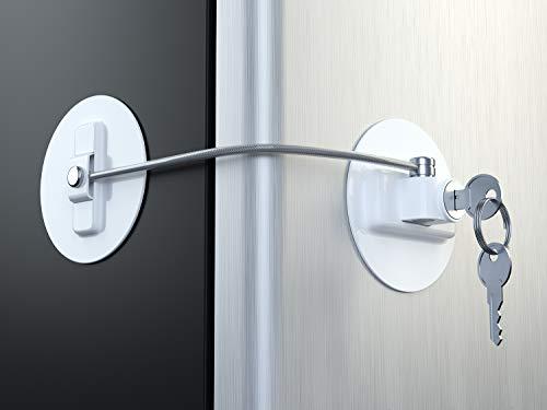 MUIN Refrigerator Door Lock with 2 Keys - White