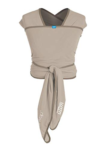 (We Made Me Flow Active Baby Wrap Carrier from 8-35lbs, Adjustable Flexible Fabric, Breathable, and Light, Pebble)