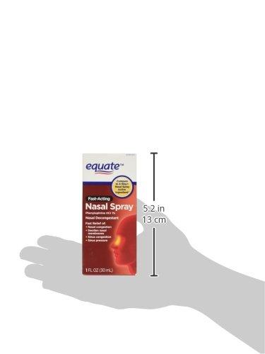Equate 4-Way Nasal Spray 3-Pack Phenylephrine HCl - 1 fl oz each