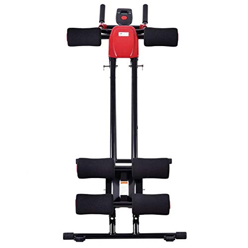 Rainrain27 Straight Linear Type Powerful Private Fitness Club Abdomen Exerciser Vertical Abdominal Machine Beauty Waist Machine for Office Home Black and Red by Rainrain27 (Image #3)
