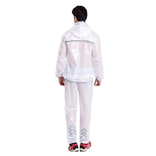 Léger Set Blanc Hommes Randonnée Veste Femmes Imperméable Pluie Les Cyclisme Pantalons Plein Raincoat Air Sport Poids De Meijunter Vêtement Bicyclette HqwvHUd