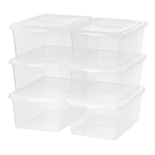 - Mainstays 17 Quart Sweater Box Storage, Clear, 6 Pack
