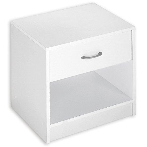 ROLLER Nachttisch - weiß - 37x38 cm