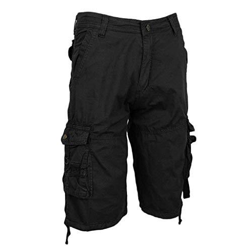 Moda tasche Bermuda Casual Vintage Pantaloncini Nero Cargo Con Stile Dell'esercito Da Larghi Amayay Pantaloni Tute Uomo Allentate Semplice Multi FnTPaqawZ