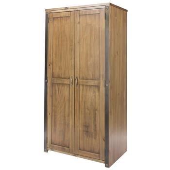 best loved 70c4b 37c4b 2 door wardrobe - self assembly Width : 880mm: Amazon.co.uk ...