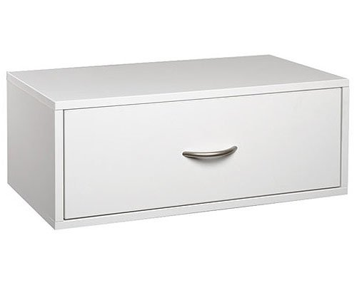 MD Group Double Hang One-Drawer O-Box - White, 9.5'' x 14'' x 32 lbs