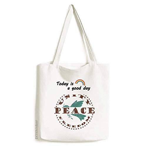 Olive Branch Peace Freedom Symbol Tote Canvas Bag Craft Washable Fashion Shopping Handbag