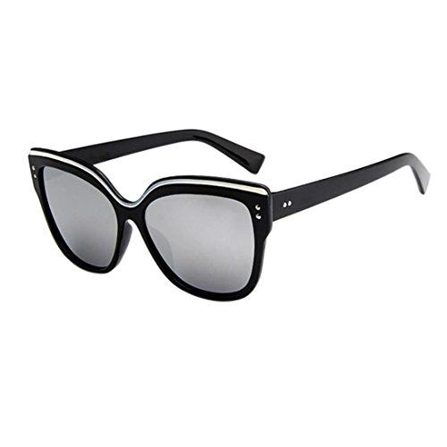 Retro Rimmed De Clásico C Keepwin Cuerno Polarizado Sol Unisexo Gafas Zw008qfa