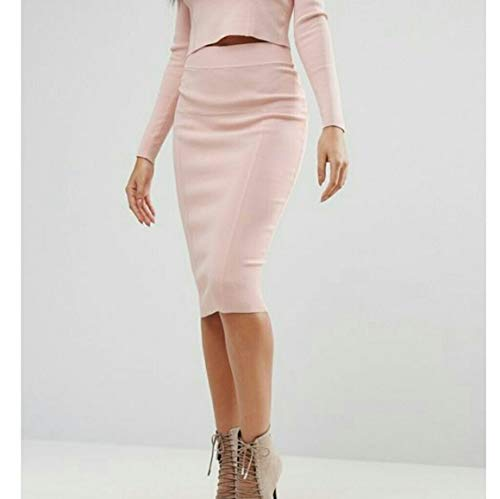 Kendall + Kylie Women's Paneled Pencil Skirt, Rose, S