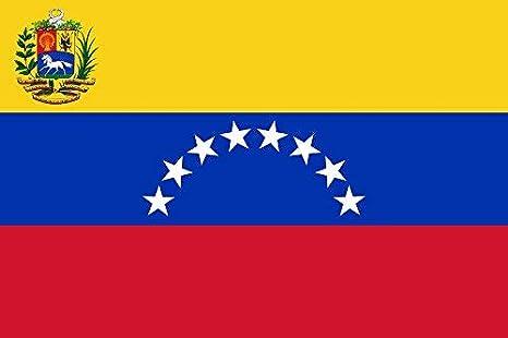 Gran Bandera de Venezuela 8 estrellas150 x 90 cm Satén Durobol Flag: Amazon.es: Deportes y aire libre
