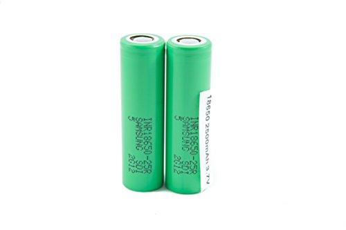 2pcs Samsung INR18650-25R 18650 2500mAh 3.7v Li-ion 20A discharge Authentic Grade-A Guarantee by CTINAW HOBBY (Image #6)