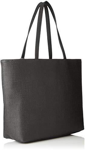 Exchange Shoulder Women's Black Texturized Tote Nero Armani Bag HqBCwBO