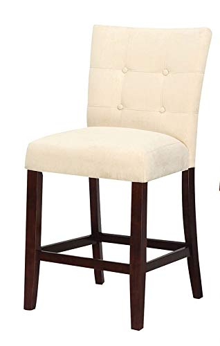 Magnificent Acme Baldwin Beige Microfiber Counter Height Chair Set Of 2 Unemploymentrelief Wooden Chair Designs For Living Room Unemploymentrelieforg