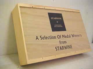 Slide top six bottle wine box