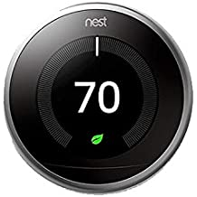 Nest Learning Thermostat   3rd Generation WiFi Bluetooth Smart Thermostat Silver