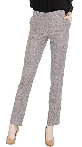 Marycrafts Women's Office Work Dress Slacks Pants Trousers Tall XS Gray Tweed