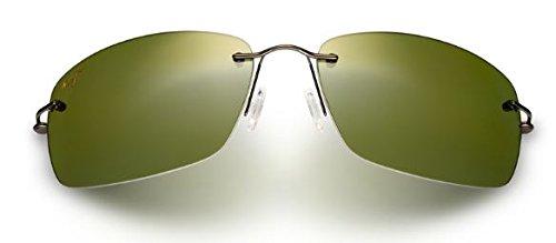 Maui Jim Frigate Sunglasses, Dark Gunmetal with Smoke Sleeve/Maui HT, One Size by Maui Jim (Image #1)