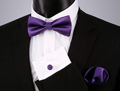 Enjoymore¨cset Fazzoletto Taglia Papillon E Uomo Per Dark Da Purple Di Unica Tasca Nero Ov8mNnw0