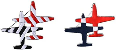 palettei Black /& Red Stripe Airplane Brooch Pins Enamel Cartoon Plane Corsage Women Men Costumes Aircraft Brooch Jewelry Accessory