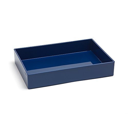 Poppin Medium Accessory Tray - Mirrors Bathroom Blue Navy Brass