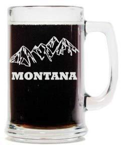 (Montana Mountains 15oz. Beer Mug with Handle)