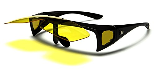 Polarized Flip Up Fit Over Sunglasses with Side ()