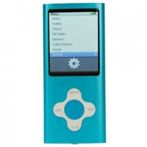 """8GB 2"""" LCD Screen MP3/MP4 Player with FM/Camera Function Blue"""