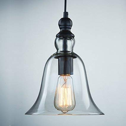 Bell Glass Pendant Light