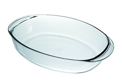 Duralex Made In France OvenChef Oval Baking Dish, 15.5 by 10.5-Inch